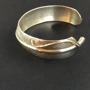 Jewelry - Native American Silver Feather Cuff Bracelet